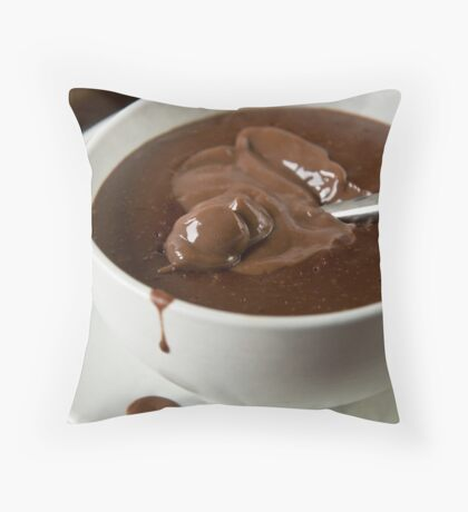 A cup of chocolate Throw Pillow