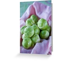 Brussels sprouts Greeting Card