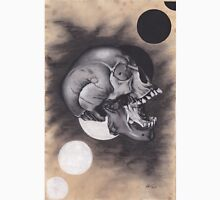 Realism Charcoal Drawing of Screaming Skull Unisex T-Shirt