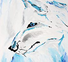 Arctic Wolf - Animal Art by Valentina Miletic by Valentina Miletic