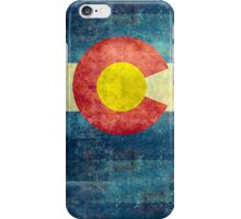 Colorado State Flag with vintage retro style treatment iPhone Case/Skin