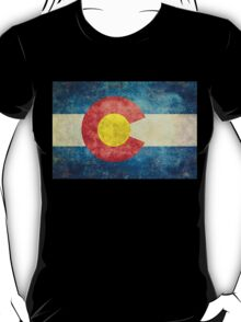 Colorado State Flag with vintage retro style treatment T-Shirt