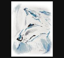 Arctic Wolf - Animal Art by Valentina Miletic One Piece - Long Sleeve