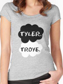 Tyler Oakley & Troye Sivan Women's Fitted Scoop T-Shirt