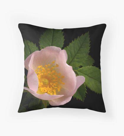 Dog Rose Throw Pillow