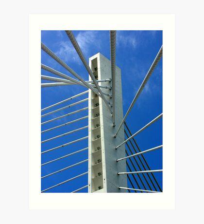 Millennium Bridge, Podgorica Art Print