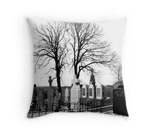 Raven's Graveyard Throw Pillow