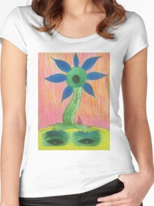 funky flower 3 Women's Fitted Scoop T-Shirt