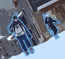 Ski March Vector by Larnsky
