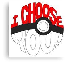 pokemon i choose you! Canvas Print