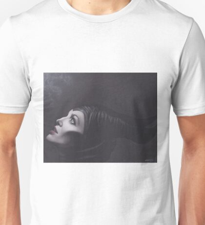 Realism Drawing of Maleficent Unisex T-Shirt
