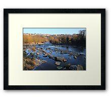 Postcard View, River Swale, Richmond on Swale. 3-Feb-2012 Framed Print