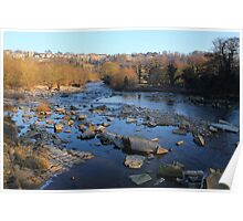 Postcard View, River Swale, Richmond on Swale. 3-Feb-2012 Poster