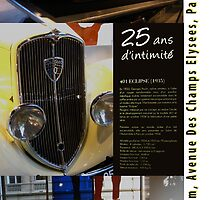 Peugeot Showroom on Rue Champs Elysees, Paris by Keith Richardson