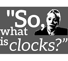 Philomena Cunk: Clocks Photographic Print