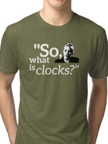 Philomena Cunk: Clocks Tri-blend T-Shirt