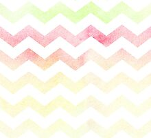 Chevron pattern in spring tones. by linepush