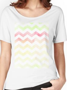 Chevron pattern in spring tones. Women's Relaxed Fit T-Shirt