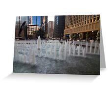 Daley Plaza in Chicago Greeting Card