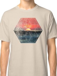 Nature and Geometry - Lovely Sunset at Sea Classic T-Shirt