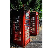 2 Red telephone boxes Photographic Print