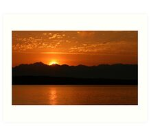 Sunset on Puget Sound Art Print