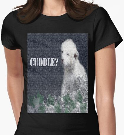 cuddle? Womens Fitted T-Shirt