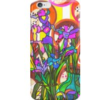 Iris flowers and paper cups iPhone Case/Skin