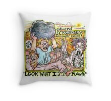 Rock Beats Scissors Throw Pillow