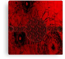 Red on black-  Abstract art +Product Design Canvas Print