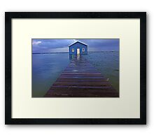 Storm Surge At Crawley Edge Boatshed  Framed Print