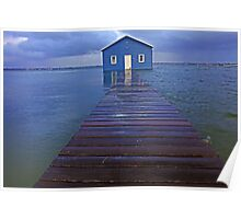 Storm Surge At Crawley Edge Boatshed  Poster