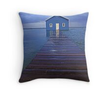 Storm Surge At Crawley Edge Boatshed  Throw Pillow