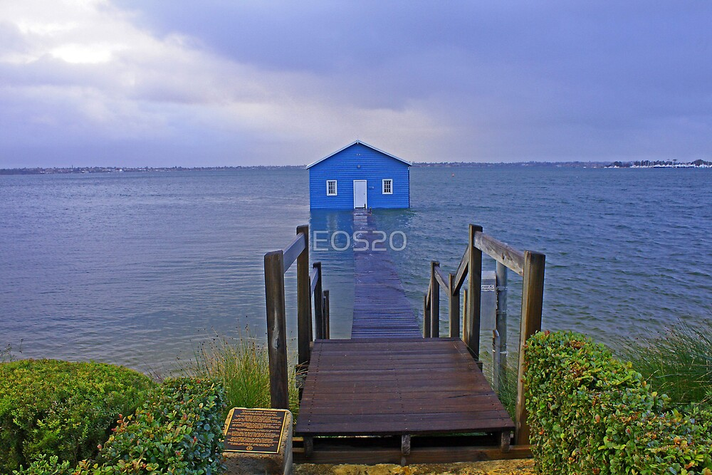 Crawley Edge Boatshed Storm Surge  by EOS20