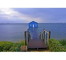 Crawley Edge Boatshed Storm Surge  Photographic Print