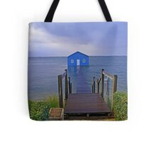 Crawley Edge Boatshed Storm Surge  Tote Bag