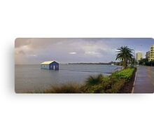 Storm Surge At Crawley Edge Boatshed  Canvas Print