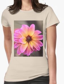 Pink orange flower Womens Fitted T-Shirt