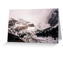Storm grows over icefalls, Kyrgyzstan Greeting Card