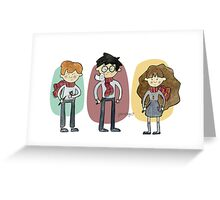 Harry Potter Trio Greeting Card