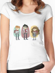 Harry Potter Trio Women's Fitted Scoop T-Shirt