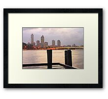 Sunrise Before The Storm  Framed Print