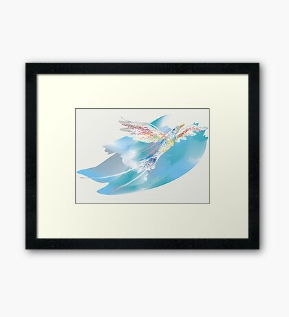 Blue Bird of Happiness Framed Print