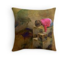 Caught Between Up and Down Throw Pillow