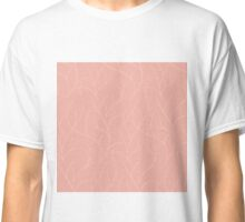 Stripes on pink background seamless pattern Classic T-Shirt