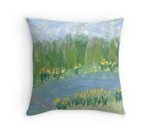 Narcissus along the Banks Throw Pillow