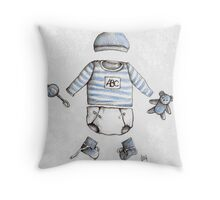 Welcome Baby Boy Throw Pillow