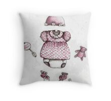 Welcome Baby Girl Throw Pillow