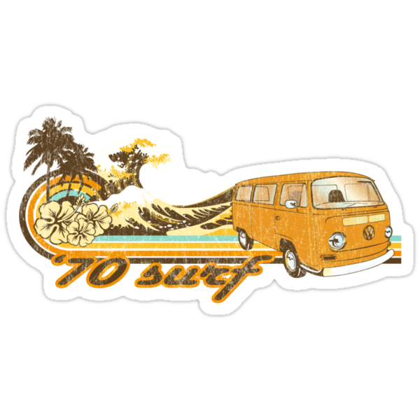 Volkswagen Kombi Tee shirt - 70 Surf by KombiNation