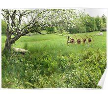 Spring Farm Scene Poster
